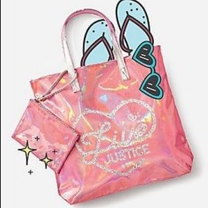 NWT Live Justice Tote and Cosmetic Case